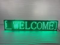 levou sinais de exibição em movimento venda por atacado-Venda quente Gráficos Semi-ao ar livre p10 Levou Sinal de Placa Movendo Display Programável 100 cm X 20 cm cor verde