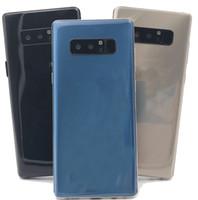 dört çekirdekli telefon stoğu toptan satış-Note8 6.2 InçHD Akıllı Telefon 1 GB Ram 16 GB Rom MTK6580A Quad Core Cep Telefonu 1280 * 720 8MP Arka Kamera Mühürlü Kutu gösterisi 4G 64G 4G