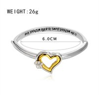 """Wholesale Dog Charm Bead - A life without paws,is a life without love"""" Crystal Paw Print Heart Bangle Bracelet Pet Memorial Dog Lover Gift Heart Charm Bracelets 162282"""