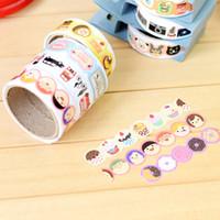 Wholesale Cute Washi Tape - Wholesale- 2016 1.5cm*75cm Cute Creative Diy Washi Tape Cartoon Decorative Adhesive Tape Masking Tape Stickers