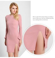 Wholesale Women S Wool Mini Skirts - Women's fashion sexy horn sleeve package of new fund of 2016 autumn winters is hip skirt bind backless knitted dress