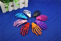 Wholesale Skull Barrettes - Top Wholesale 50pcs lot Skeleton Claws Skull Hand Hair Clip Hairpin Bobby Pin Barrettes Hair Accessories Jewelry Findings ds201