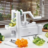 машина для резки фруктов оптовых-Рука резки спираль Овощной Slicer 3 В 1 Multi Function Fruit Cutter Мода Twister Овощечистка Кухня инструмент 28wa KK