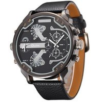 Wholesale Oulm Military - Famous Designer Mens Watches Top Brand Luxury Quartz-Watch Oulm Leather Strap Big Face Military Quartz Clock relogio masculino