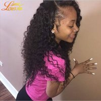Wholesale Double Drawn Peruvian - Great Texture 4 Bundles Kinky Curly Peruvian Double Drawn Weft Cloris Unprocessed Peruvian Afro Kinky Curly Human Hair Extentions