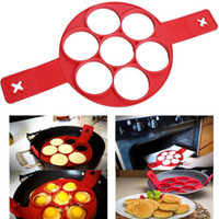 Wholesale Flippin Silicone Pancakes Egg Ring Molds Fantastic Easy To Maker Nonstick household Pounds Omelette Bake Kitchen Moulds PX T21