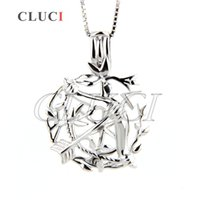 Wholesale cupids arrow jewelry for sale - Group buy Sterling silver Cupid arrow shape locket pendant DIY jewelry for women mm