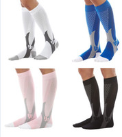 Wholesale Leg Support Sports - Unisex Compression Knee Stockings Leg Socks Relief Pain Support Socks Copper Leg Support Stretch Running Sport Socks 4 color KKA1026