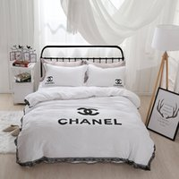 Wholesale Polyester Sheets - Romantic Lace Series Double 4 Piece Bedding Simple Nordic Wind Princess Bed Sheet 1.8 m   2 m
