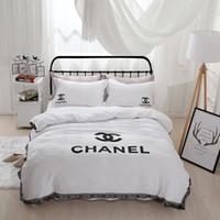 Wholesale Edge Series - Romantic Lace Series Double 4 Piece Bedding Simple Nordic Wind Princess Bed Sheet 1.8 m   2 m