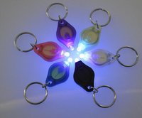 Wholesale Ultrafire Uv - Mini Torch Key Chain Ring Keyring White LED Lights,UV Lights, LED Bulbs,ton II Photon 2 Micro Light LED Keychain Flashlight Mini Light