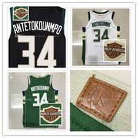 Wholesale Embroidery Logo - Mens 2017-18 New season jerseys #34 Antetokounmpo basketball jerseys High quality Embroidery Logos Free Shipping
