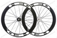 Wholesale Fix Gear Wheels - Free shipping 700c bicycle wheels track 60mm clincher wheels carbon track wheel fixed gear single speed wheelset with hub Novatec 165 166