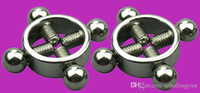 Wholesale Heavy Duty Sex Toys - Adult SM 4 Way Twisting Chrome Nipple Clamps Heavy Duty Strict Bondage Nipple Torture Toys Sex Products Unisex Fetish Game