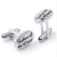 Wholesale cufflinks wedding gift resale online - Father s Wedding Gift Cuff Links for Men Tuxedo Stylish Cufflinks Silver Plated Oval Father of The Groom French Shirt Cuff Links