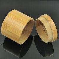 Wholesale Round Bamboo Box - Natural bamboo watch box handmade watch box Circular watch box packing boxs