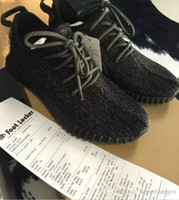 Wholesale Medium Size Fashion - 2017 Boost 350 New Pirate black Boost with Box Receipt 350 Men women Fashion Sneaker Shoes Basketball Shoes Free Shipping size 36-48