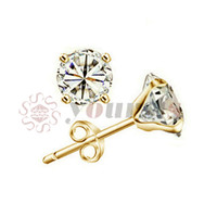 Wholesale Used Chandelier Crystals - Yoursfs 18K White Gold Plated Simulated Diamond Studs Earrings Use Austrian Crystal Fashion Jewelry