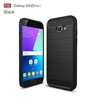 Wholesale 1PCS CellPhone Case For Samsung Galaxy A5 TPU Carbon Fiber brushed slim case for Galaxy A5 phone case Newest