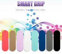 sihirli cep telefonu tutacağı toptan satış-Çok Bant Parmak Yüzük Cep Telefonu Standı Tutucu Parmak Kavrama Kendini Ayakta Sihirli Çok renkli Halka Braketi