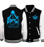 Wholesale Funny Tracksuit - Wholesale- Assassins Creed jacket men 2017 spring autumn tracksuit brand clothing nothing is true print sweatshirts men women funny hoodies