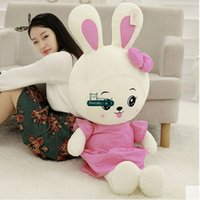 Dorimytrader 130cm Large Lovely Soft Cartoon Bunny Peluche Doll 51 '' Big Stuffed Rabbit Toy Belle fille présent DY61415