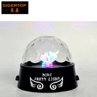 Wholesale rgb cable usb for sale - 100pcs New Designed Full Colorful Led Mini Effect Light Two Work Mode by Battery or By USB Power Cable Stage Lighting Led Party Light