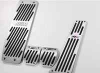 bmw pedalları toptan satış-BMW için ücretsiz nakliye için X1 / X3 / E46 / E90 / E92 / E93 / E87 / 3 bölüm / yeni 1 Serisi kızaklı metal hızlandırıcı pedallar MT # 4350
