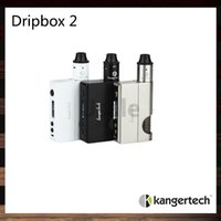 Wholesale Clamping Kit - Kanger Dripbox 2 TC Starter Kit 80W Dripbox 2 Mod 7ml Juice Delivery System Subdrip 2 RDA Unique Screwless Clamp Post Design 100% Original