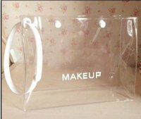 Wholesale White Nylons Transparent - New brand Beaute Clear Transparent Makeup Pouch Cosmetic Bag