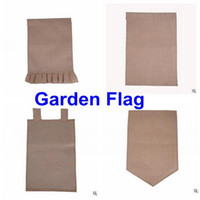 "Wholesale Custom H - Burlap Garden Flag 12""Wx18""H DIY Liene Yard Decorative Flags Hanging Home Custom Print Decoration Banner Ads Flags DHL Free Shipping"