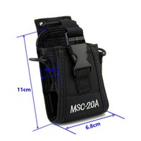 Wholesale Radio Leather - Portable walkie talkie leather case MSC-20A two way radio bag for BAOFENG UV-5R UV-82 UV-8D Wouxun walkie talkie nylon case