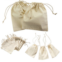 Wholesale mini sachets - Wholesale- Mini Drawstring Gift Bag Incense Storage Cosmetic Jewel Accessories Sachet Packing Linen Bags 10*15cm WN0239