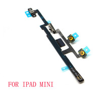 Power On Off Switch Mute Volume Botão Flex Cable para Apple iPad 2 3 6 air 2 mini 1 2 Reparação Replacement compnent with ESD bag mini 50pcs
