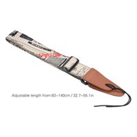 Wholesale Shoulder Strap For Guitar - Comfortable Adjustable Guitar Strap Shoulder Strap Synthetic Leather Ends for Acoustic Folk Classic Electric Guitars Bass