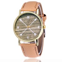 Wholesale Green Arrow Leather - 2017 Brand Fashion Compass Arrow Watch Casual Ladies Women Cardinal Direction Wrist Watches Vintage Leather Quarzt Watch