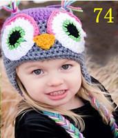 OWL Crochet Knitted Hat Baby Boys Girls Children Flower Beanie Earflaps  Winter Animal Cap Newborn Infant Toddler Kids Princess Cotton Beanie e489b83b93f7