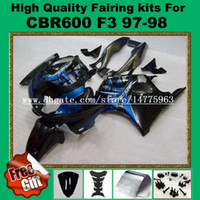 Комплекты обтекателей 9Gift для honda CBR600 F3 обтекатели CBR 600 F3 1997 1998 CBR 600F3 abs fairing 97 98 Blue Black Gary