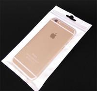 weiße hüllen für samsung großhandel-Klar + weiße Perle Kunststoff Poly OPP Verpackung Reißverschluss Zip-Lock Einzelhandel Pakete PVC-Tasche für Case für iPhone 6 6s plus Samsung Galaxy