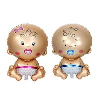 menino inflável venda por atacado-80 * 50 cm bebê menino menina bebê chuveiro balão de alumínio inflável decorativo folha de hélio balões de aniversário