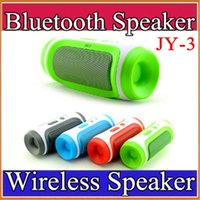 Wholesale Speakers Stereo Subwoofers - JY-3 Bluetooth Wireless Speaker Elliptical Round Portable Subwoofers Handsfree Stereo Speakers With Mic TF Card Phone Answer G-YX