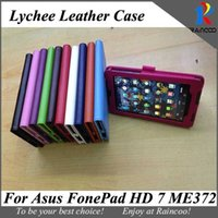 "Wholesale Asus Hd Tablet - Wholesale-For Asus fonepad HD 7 ME372CG lychee leather Protective case,7"" ME372 tablet leather stand cover,opp bag packing,many color"
