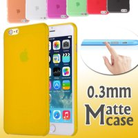 Wholesale Iphone 4s Cases Slim - 0.3mm Ultra Thin Slim Matte Frosted Colorful Transparent Clear Soft PP Cover Case For iPhone X 8 7 Plus 6 6S 5 SE 5S 4 4S Samsung S8 Plus