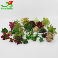 Wholesale Wholesale Succulent Plants - Artificial Plants With Vase Bonsai Tropical Cactus Fake Succulent Plant Potted Office Home Decorative Flower Pot