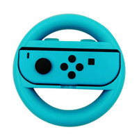 Wholesale Racing Game Controller - Racing Game Steering Wheel Handgrip Handle Grip for NS Switch Joy Con Controller Gamepad Left Right 2 in 1 Retail Package