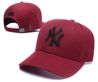 Wholesale orange hats resale online - Baseball Caps Letter NY Embroidery Hip Hop Outdoor Sports Bone Snapback Hats for Men Women Adjustable Gorro Masculino