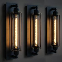 Wholesale Loft American vintage wall lamp bed lighting eye lantern wall lights Lamp For Home Wall Sconce Metal Frame