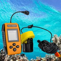 Wholesale Sonar Lcd - Portable Wired sonar fish finder looking for fish to see fishing viewable fishfinder Sounder Depth Finder Alarm 100M LCD screen