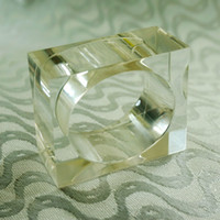 Wholesale Clear Napkin Ring Holder - Wholesale- clear crystal napkin ring ,acrylic napkin holder, free shipping