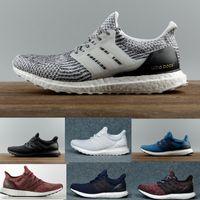 белая обувь оптовых-Ultra Boost 3.0 4.0 тройной черно-белый Primeknit Oreo CNY синий серый Мужчины Женщины кроссовки ультра повышает Ultraboost спортивные кроссовки